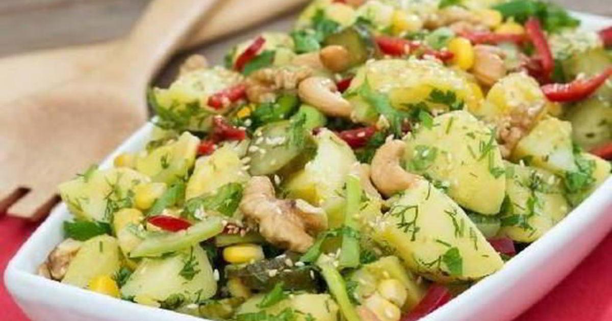 салат из картофеля рецепт с фото