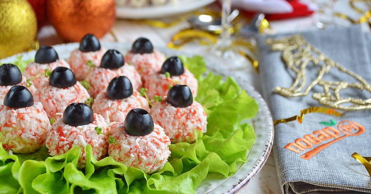 Интересные рецепты салатов и закусок с фото